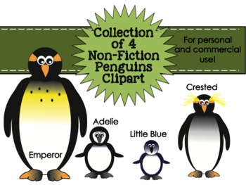 Penguins Non-Fiction Collection Clipart for Personal & Com