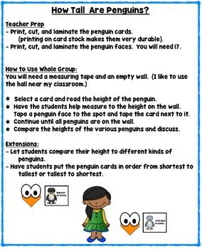 Penguins Nonfiction Literacy and Math Mini Unit