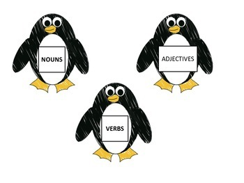 Penguins - Nouns, Verb, Adjectives