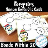 Penguins Number Bonds Interactive Task Cards Center