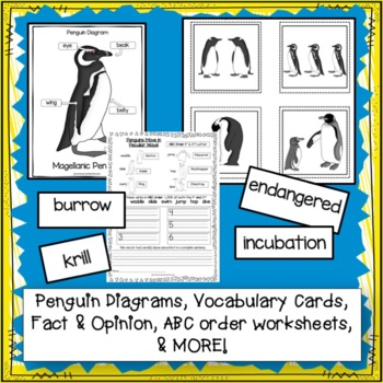 Penguins! Non-fiction Unit 1st and 2nd Grade