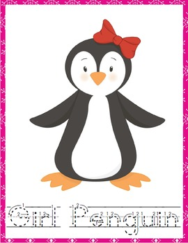 Penguins Penmanship Pack (PreK through Middle School)