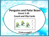 Polar Bears, Winter Math Centers, Winter Counting, Winter Count and Clip