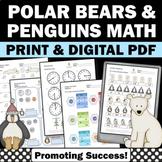 2nd Grade Winter Math Worksheets, Penguins and Polar Bears Unit, Morning Work