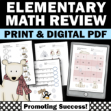 1st Grade Winter Math Worksheets, Penguins and Polar Bears Activities