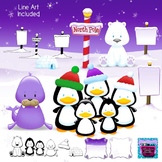 Polar and Arctic Animals Clipart - North Pole, Signs, Frames
