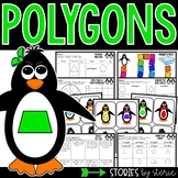 Polygons (Sorting Activity, Anchor Charts, and Worksheets)