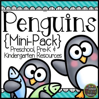 Penguins: Preschool, Pre-K and Kindergarten Mini-Pack