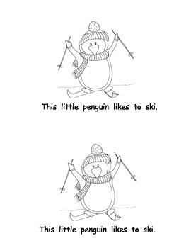 Penguins Printable Guided Reading Books: 2 versions: Level A and Level B