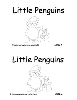 Penguins Printable Guided Reading Books: 2 versions: Level