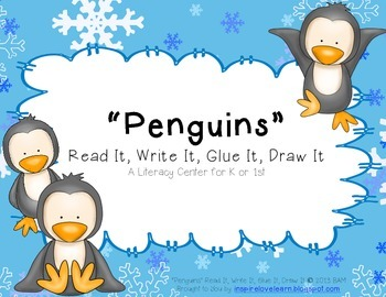 """Penguins"" Read It, Write It, Glue It, Draw It"