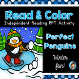 Penguins Read and Color PowerPoint