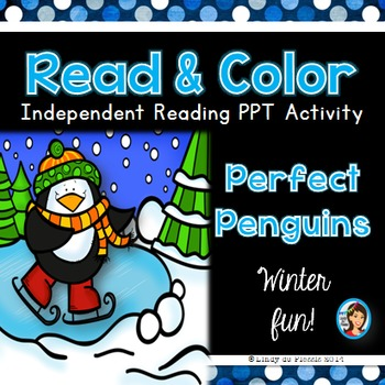 Penguins Read and Color