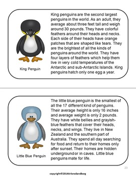 Penguins: Reading and Writing Activities