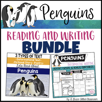 Penguins: Reading and Writing Bundle {2nd and 3rd Grade}