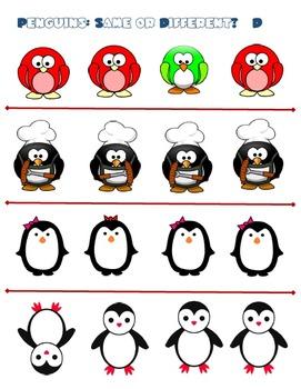Penguins:  Same or Different?