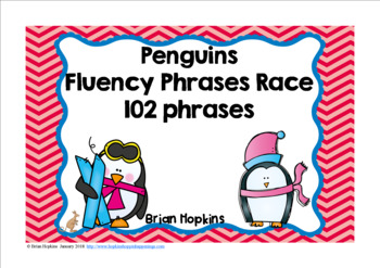 Penguins Sight Word Fluency Phrases Race