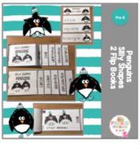 Penguins Silly Shapes 2 Flip Books