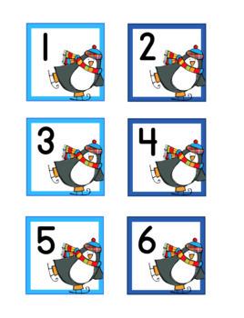 Penguins Skate Calendar Numbers