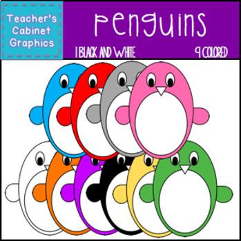 Penguins {Teacher's Cabinet Graphics}