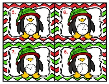 Penguins Telling Time {Freebie}