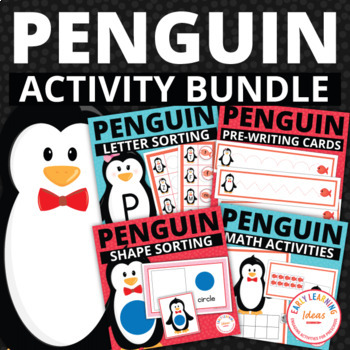 Penguin Activities Bundle | Penguin Math and Literacy Activities