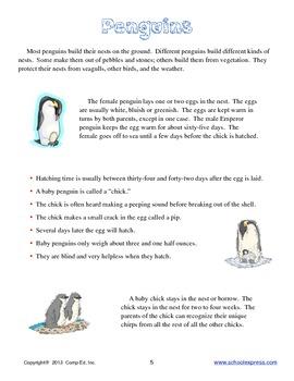 Penguins Thematic Unit