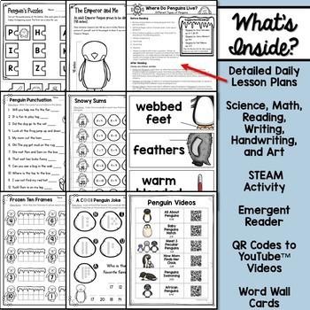 Penguins Unit for Kindergarten and First Grade