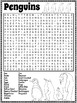 Penguins Word Search Activity