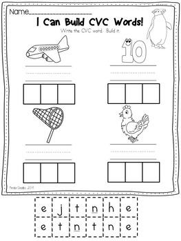 Penguins Word Work Activities