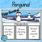 Winter Animals - Penguins Writing Flap Books!