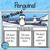 Winter Animals - Penguins Writing Flap Books!