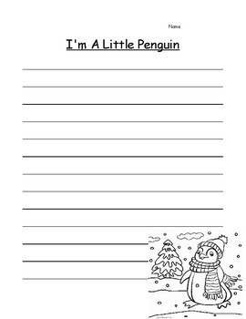 Penguins Writing Paper