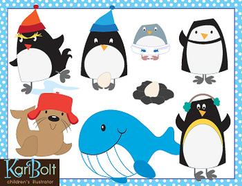 Penguins and Antarctic Animals Clip Art