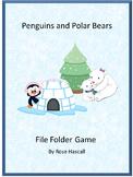 Penguins and Polar Bears WinterFile Folder Games Kindergarten Special Education