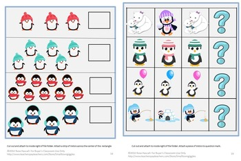Penguins and Polar Bears WinterFile Folder Games Kindergarten Special Education