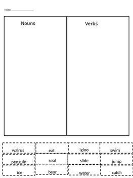 Penguins and Polar Bears Language arts activities