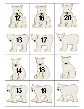 Penguins and Polar Bears Math Activites for Kindergarten