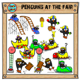 Penguins at the Fair Clip Art