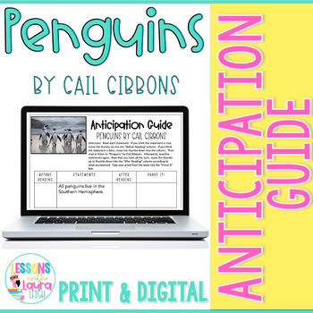 Penguins by Gail Gibbons Anticipation Guide