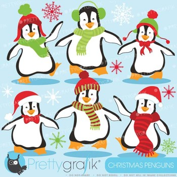 Penguins clipart commercial use, vector graphics, digital clip art - CL586