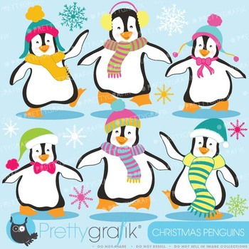 Penguins clipart commercial use, vector graphics, digital clip art - CL587