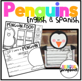 Penguins (Craft, vocabulary cards, and printables in English and Spanish)