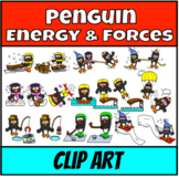 Penguins in Action Clipart