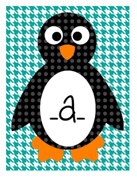 Penguins in the Middle Literacy Center: Sorting Medial Sounds