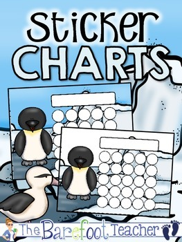 Penguins Sticker Incentive Charts - Full Color & Less-Ink Options