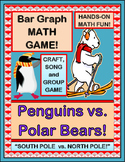 """Penguins vs Polar Bears!"" - Math Group Game, Craft, and Bar Graph!"