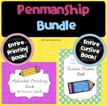 Penmanship Bundle {Printing & Cursive Books Included!}
