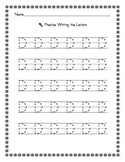 Penmanship Capital and Lowercase A-Z tracing