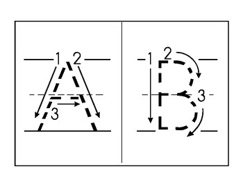 Penmanship Cards: Capital and Lowercase Alphabet Tracing